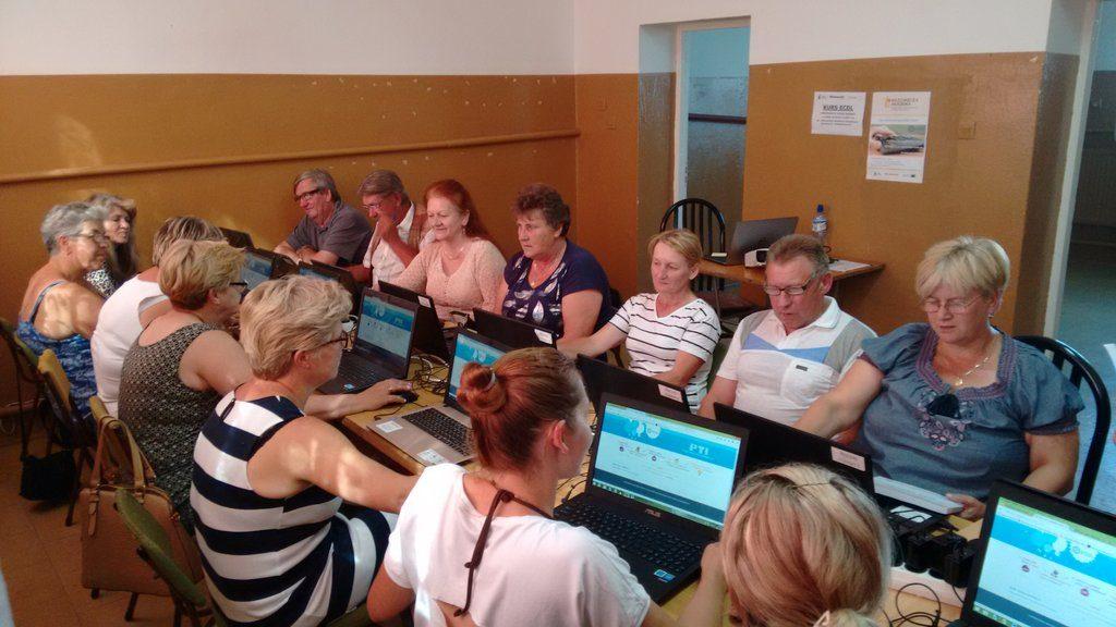 Kurs komputerowy w Bibliotece w Żabinie