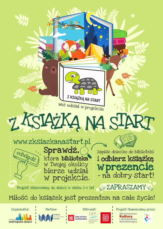 Plakat Z książką na start