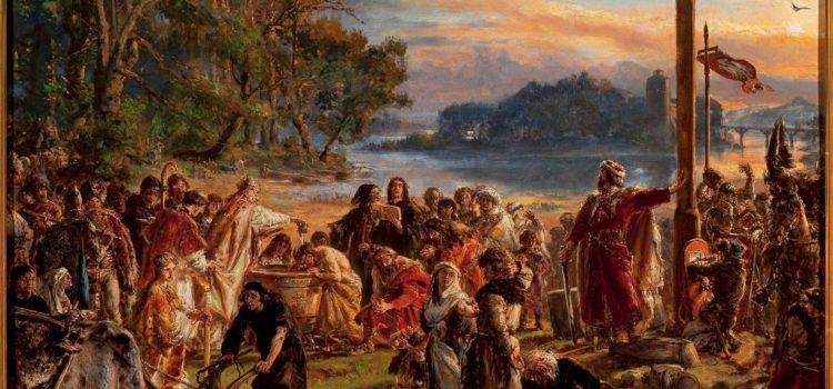 Obraz Jana Matejki - Zaprowadzenie chrześcijaństwa
